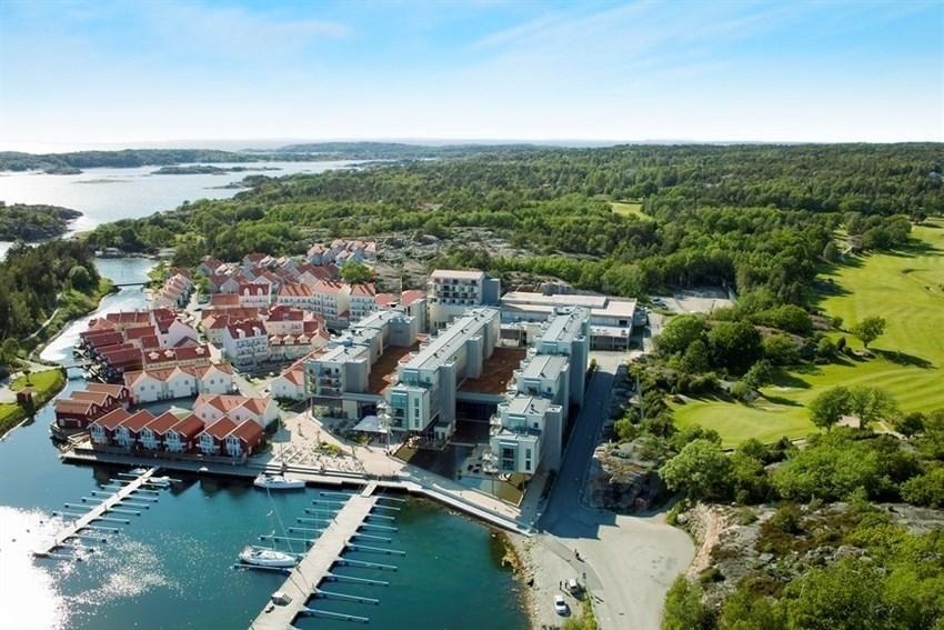Strömstad Spa /Nötholmen. Lekker 3-roms ferieleilighet i spahotell-resort.Stille. Kveldssol. Heis. Gunstig utleieordn.