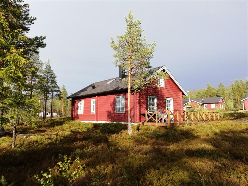 Flott hytte i solrike omgivelser